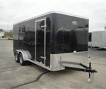 Enclosed Black 7' x 16' Cargo Trailer by ATC – Aluminum Trailer Company