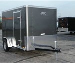 Enclosed Medium Charcoal 6' x 10' ATC – Aluminum Trailer Company Cargo Trailer