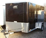 Enclosed Black 6' x 12' ATC – Aluminum Trailer Company Cargo Trailer