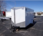 6' x 12' White Cargo Trailer with Rear Swing Doors