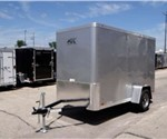 5' x 10' Enclosed Cargo Trailer by ATC - Silver Frost