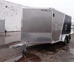 Enclosed  7' x 19' Stealth Trailers Snowmobile Trailer with 5' Nose Wedge