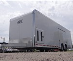 Polar White 28' Enclosed Car Hauler