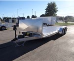 Aluminum 8.5' x 20' Open Car Hauler with Gravel Guard