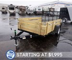"6' 4"" x 10' Open Utility Trailer with Removable Sides & Gate"