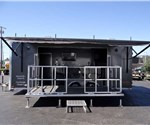 BBQ Smoker and Stage Event trailer. 8.5 x 24' with 3 smokers.