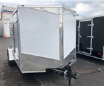7' x 10' White Cargo Trailer With Double Rear Swing Doors