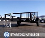 6' x 12' Tube Top Utility Trailer with Fold Flat Gate