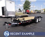 Custom Built Tilt Deck Equipment Hauler