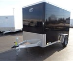 Enclosed Black 6' x 10' Cargo Trailer