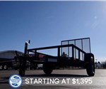 Open Black 5' x 8' U.S. Cargo Utility Trailer