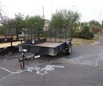 USED Open Black 6.5' x 10' Utility Trailer By U.S. Cargo – Forest River