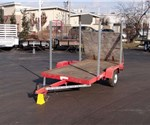 Used 4' x 8' Open Utility Trailer with Fold Down Ramp