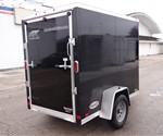 Black 5' x 8' Cargo Trailer with 2' Wedge Nose
