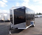 7' x 12' Black Cargo Trailer with Rear Ramp Door