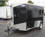 6' x 10' Black Cargo Trailer With Double Swing Rear Doors