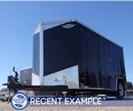 Custom 6' x 12' Black Cargo Trailer with Light Duty Rear Ramp Door