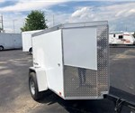 White 4' x 6' Enclosed Cargo Trailer