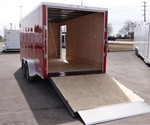 Enclosed Victory Red 7' x 16' Landscape Trailer by ATC – Aluminum Trailer Company
