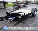 6.5' x 12' Tilt Bed Equipment Hauler