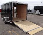 Enclosed Black 7' x 12' Cargo Trailer by ATC