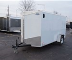 6' x 12' Steel White Cargo Trailer with Rear Swing Doors