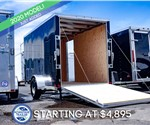 ATC 6'x12' Enclosed Cargo Trailer - Black