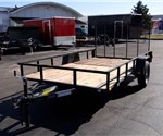 Open Black 6.5' x 12' Utility Trailer by U.S. Cargo – Forest River