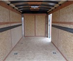 White 7' x 14' Equipment Transport Trailer