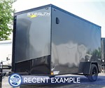 6'x12' Stealth Titan Enclosed Cargo Trailer - Charcoal Blackout Package