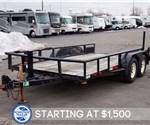 USED Big Tex Tandem Axle Pipe Utility Trailer