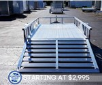 All Aluminum 6' x 10' Open Utility Trailer