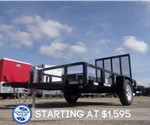 5' x 10' Black Tube Top Utility Trailer