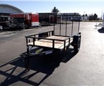 Open Black 5' x 8' Utility Trailer