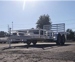 Open Aluminum 7' x 14' Utility Trailer by ATC with a Ramp Gate