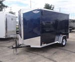 6' x 12' Indigo Blue Cargo Trailer with Light Duty Ramp
