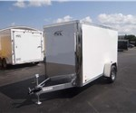 Enclosed Polar White 5' x 10' Cargo Trailer