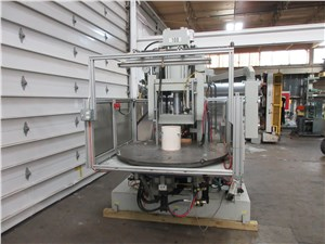 90 Ton Autojector Vertical Rotary Injection Molding Machine, Model HCR-90, 4.44 Oz, Made New In 2000