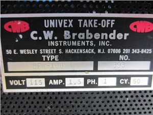 Brabender Lab Blown Film Winder, Model BFW-100