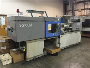 100 Ton Sumitomo Injection Molding Machine, Model SG100M-H, 5.5 Oz, New In 1999