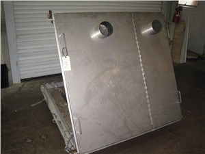 Two Component Stainless Steel Hopper, Approximately 26cuft