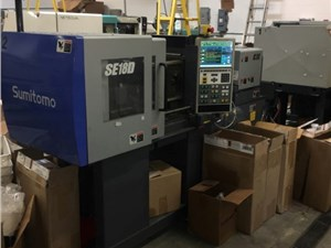 20 Ton Sumitomo Electric Injection Molding Machine, Model SE18D, 0.5 Oz, Made New In 2006