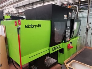 45 Ton Engel Victory Injection Molding Machine, Model VC 80/45, 1.65 Oz, 2007 Vintage