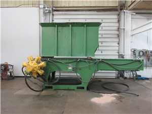 "54"" x 80"" Granutech Single Shaft Shredder, Model 110H, 100 Hp Hydraulic Drive"