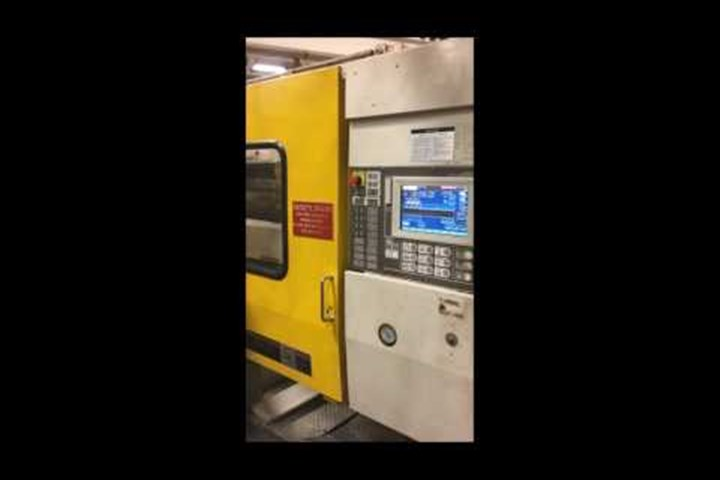 390 Ton Toshiba Injection Molding Machine, Model ISGS-390V10-19AT, 30.2 Oz, Made New In 1996