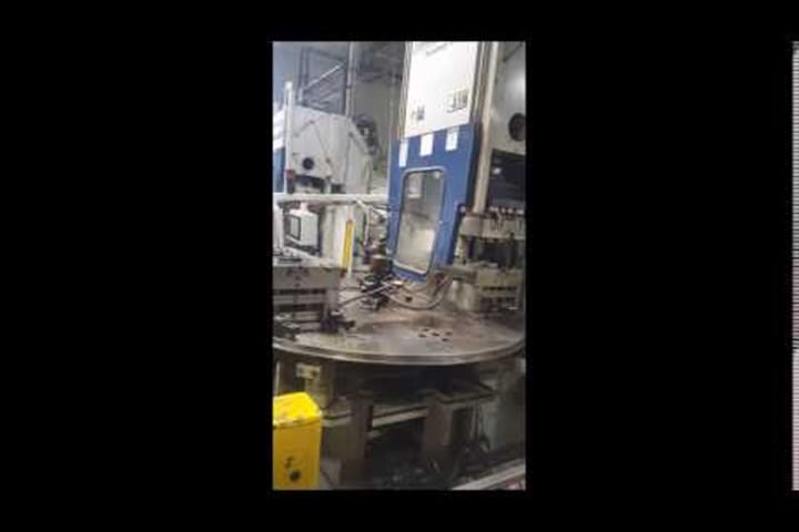 200 Ton Van Dorn Vertical Rotary Injection Molding Machine