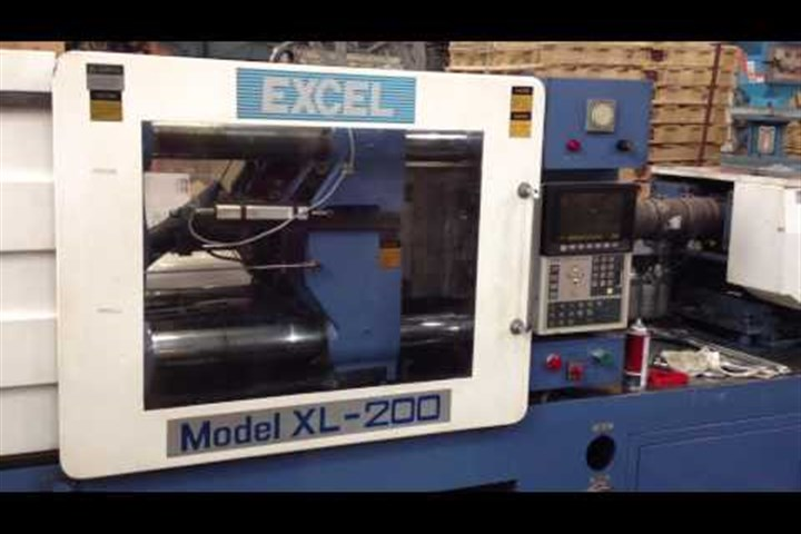 200 Ton Excel Injection Molding Machine, Model XL-200, 12 Oz, New In 1992