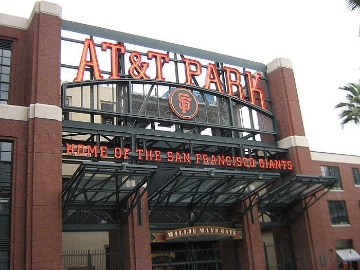 san francisco sports stadium sign