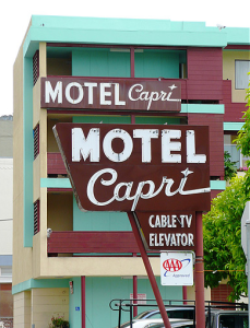pylon sign motel pole sign