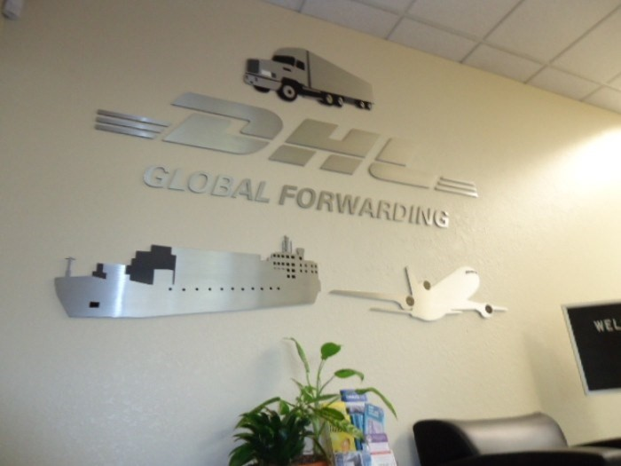 DHL interior signage by Golden Gate Sign Company